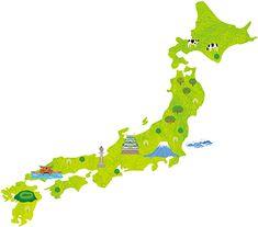 『HOT PEPPAR』  日本地図