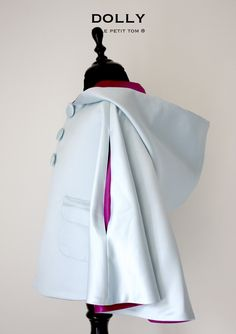 This stunning reversible cape with light blue for ELSA lovers on one side and amethyst purple for team ANNA on the other side