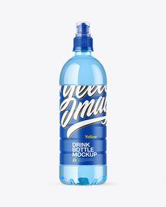 Blue PET Bottle with Sport Cap Mockup Drink Bottles, Vodka Bottle, Water Bottle, Water Water, Bottle Packaging, Bottle Mockup, Sports Caps, Pet Bottle, Plastic Animals
