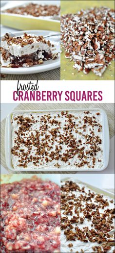 My most favorite holiday dish of all time - Frosted Cranberry Squares.  It wouldn't be Thanksgiving or Christmas without this recipe.