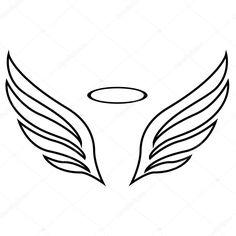 Resultado de imagen de siluetas alas angeles con aureola