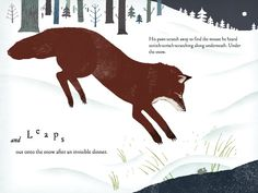 How does a red fox find food in winter? Read about it in OVER AND UNDER THE SNOW & see a real-life video from the BBC