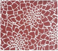Dahlia Floral Print Indian Cotton Organic Fabric by EcoFabricStore, $11.99
