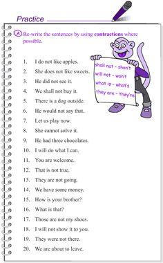 Grade 4 Grammar Lesson 16 Contractions (2)