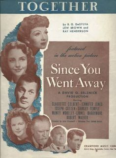 Sheet Music from Since You Went Away