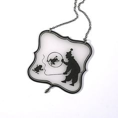Clever Clown Silhouette Necklace $29
