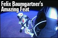 """When you stand up there on top of the world, you become so humble...."" Find out what other lessons we can learn from Felix Baumgartner's amazing jump from 128,000 feet:"