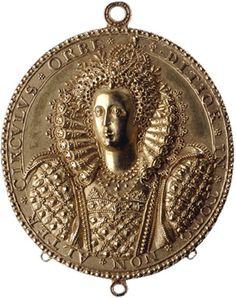 Gold medal of Elizabeth I by Nicholas Hilliard. England, c. 1580-1590.