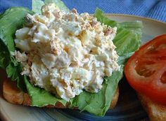 To use up the leftover Easter eggs: Tuna & Egg Salad Sandwich recipe