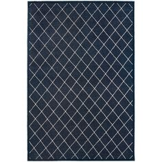 Diamond Trellis Heathered Navy/ Ivory Rug (3'10x5'5) | Overstock.com Shopping - The Best Deals on 3x5 - 4x6 Rugs