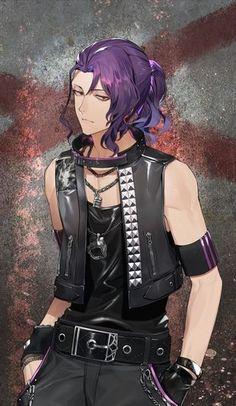 Dark Anime Guys, Cool Anime Guys, Handsome Anime Guys, Manga Hair, Anime Hair, Anime Purple Hair, Emo Boy Hair, Taiga Anime, Tokyo Ghoul Drawing