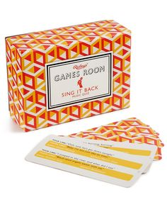 Challenge your friends' vocal skills and musical memories when you play Sing It Back by Ridley's Games Room at your next get-together. | Imported | Includes 140 cards and instructions | Web ID:2997035