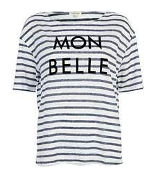 Blue stripe mon belle linen t-shirt £18.00