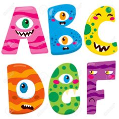 Find Halloween monster set, alphabet, vector illustration Stock Images in HD and millions of other royalty-free stock photos, illustrations, and vectors in the Shutterstock collection. Monster Party, Monster Birthday Parties, Cute Fonts Alphabet, Halloween Clipart, Funny Halloween, Zombie Kid, Monster Pictures, Monster Characters, Creative Lettering