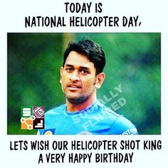 Happy Birthday M.S.Dhoni Happy Biryhday, Ms Dhoni Wallpapers, Ms Dhoni Photos, Today Is National, Very Happy Birthday, Mahi Mahi, Best Player, Cricket, Wish