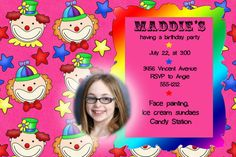 Printable Birthday Card with child's photo tthat I can customize with your child's picture
