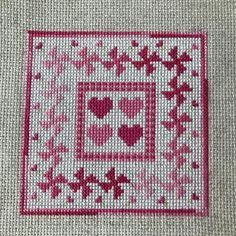 Tiny Cross Stitch, Cross Stitch Needles, Cross Stitch Heart, Cross Stitch Designs, Vintage Cross Stitches, Counted Cross Stitch Patterns, Cross Stitch Embroidery, Pinwheel Quilt, Cross Stitch Collection