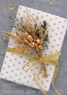 cafenoHut: Paketimdeki Çiçek - Gift Wrapping with Natural Flo...