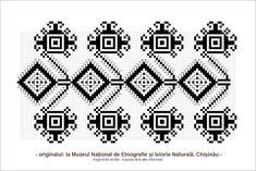 Sfatul Batranilor Folk Embroidery, Learn Embroidery, Embroidery Stitches, Embroidery Patterns, Cross Stitch Patterns, Knitting Patterns, Palestinian Embroidery, Hobbies And Crafts, Folk Art