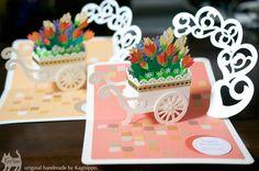 original handmade pop-up card [flower cart] ========================== [Youtube] http://youtu.be/ND6zpBH-j7w ========================== #Birthday card
