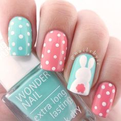 Amazing Designs Of Easter Nails; Cute Bunny Tail Nail Designs  #easter; #nails; #nailart; #naildesign