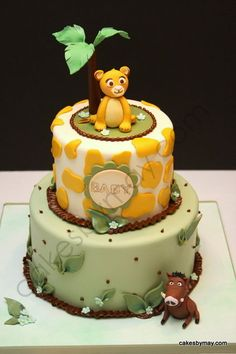 Simba Lion King Baby Shower Cake Cake by CakesbyMaylene. Please when I have a child do this for me Torta Baby Shower, Baby Shower Cakes For Boys, Boy Baby Shower Themes, Baby Boy Shower, Simba Bebe, Simba Lion, Baby Simba, Baby Cakes, Jungle Cupcakes