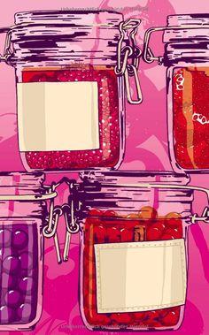 Das Marmeladenbuch (Insel Bücherei): Amazon.de: Véronique Witzigmann, Kat Menschik: Bücher Web Comic, Giant Anteater, Jukebox, Paper Art, Illustration, Scrapbooking, Inspiration, Illustrations, Drawings