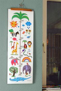 Messleiste für Kinder // Measuring board for children by MY-LOVELY-SPOT via DaWanda.com