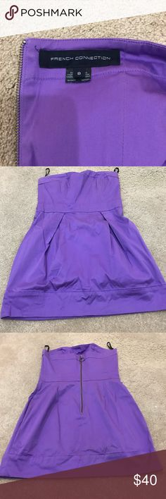 French Connection strapless party dress! Pretty purple strapless French connection dress with pockets! Can be worn casually or dress it up. Does run a bit small so I'd say closer to a size 6👗👗 French Connection Dresses Strapless