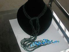 handmade beaded wrap necklace-50 inch necklace by WavesOfDew