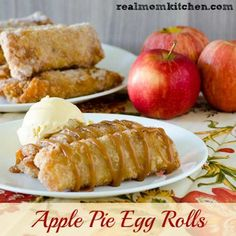Apple Pie Egg Rolls | realmomkitchen.com