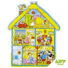 Puzzle Notre ferme 43 pièces en bois Leroy du jouet