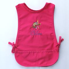 Personalized Kids Smock - Monogrammed Childs Art Apron - Paint Palette. $23.00, via Etsy.
