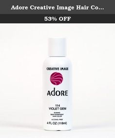 Adore Creative Image Hair Color #114 Violet Gem by Adore [Beauty]. Violet Gem 114, Alcohol Free, Ammonia and Peroxide Free, Leaves hair shiny and sensual, Long lasting color.
