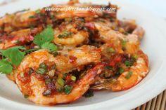 Vivian Pang Kitchen: Cantonese Pan Fried Prawns (Kon Jeen Ha Look) 干煎虾碌