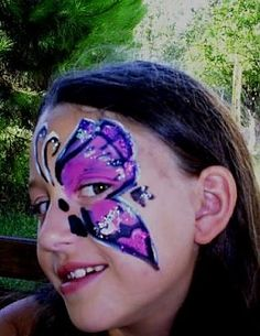 Butterfly face painting