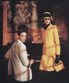 Inès de la Fressange (+ brother Ivan) - Chanel Ad 80's Shot in Villa Arnaga, Cambo les Bains, France