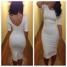 Sexy Bandage Strappy Back Bodycon Dress Sexy Dresses, Cute Dresses, Beautiful Dresses, Dress Me Up, Dress Skirt, Bodycon Dress, Little White Dresses, White Outfits, Fashion Moda