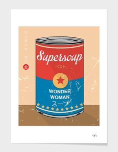 """""""Wonder Woman - Supersoup Series"""", Limited Edition Affiches d'art by Hyo Taek Kim - From 45,00€ - Curioos"""