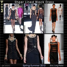 Sheer Lined Black Dress   Sheer Stripes Trend for Spring Summer 2013.  #Striped #Fashion #Stripes   Oct 3rd 2012 11:51pm GMT.