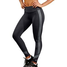 Women's Champion Colorblock Yoga Leggings (€21) ❤ liked on Polyvore featuring activewear, activewear pants, grey, champion sportswear, champion activewear and logo sportswear