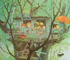 Gyo Fujikawa was one of my fav illustrators growing up.  This pic brings back a flood of memories.