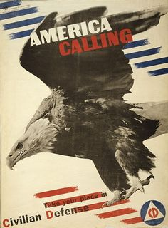 America Calling, Take Your Place in Civilian Defense, 1941.  Artist: Herbert Matter (1907–1984). Swiss-born American photographer and graphic designer known for his pioneering use of photomontage in commercial art. (MoMA)
