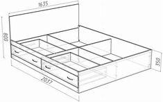 Malm Bed Frame, Bed Frame With Drawers, Bed Frame With Storage, Diy Bed Frame, Bed Frame Plans, Bedroom Closet Design, Girl Bedroom Designs, Bedroom Furniture Design, Bed Furniture