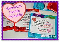 Valentine's Fun Dip Printable
