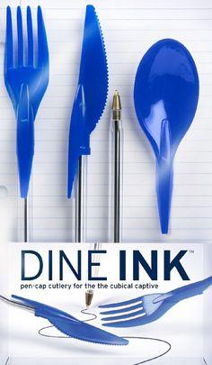 Pen lid cutlery
