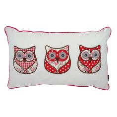 Wise Owls Appliqué Cushion. 50% off! Was £14.99 now just £7.49! Applique Cushions, Owl Applique, Sewing Pillows, Wise Owl, Spring Sale, Diaper Bag, Arts And Crafts, Tapestry, Throw Pillows