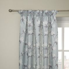 Buy John Lewis Magnolia Lined Pencil Pleat Lined Curtains, Mineral Online at johnlewis.com