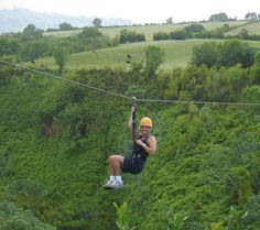 be adventurous and ride a zipline