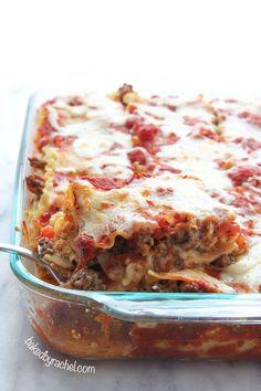 Spicy Sausage Lasagna Recipe from bakedbyrachel.com